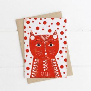 Yayoi Catsama Greetings Card