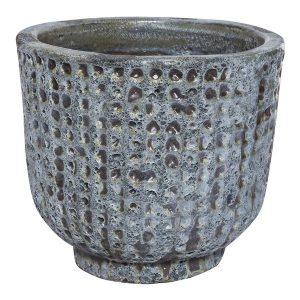 Seco Blue Checked Round Pot
