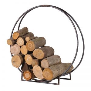 Metal Circle Log Holder
