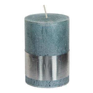 Metallic Mint Green Pillar Candle 10x7cm