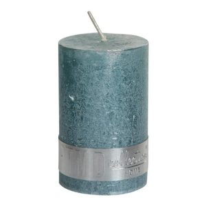 Metallic Mint Green Pillar Candle 8x5cm