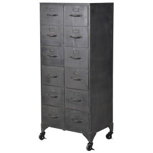 12 Drawer Iron Storage Cabinet