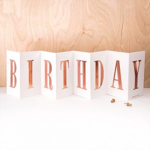 'BIRTHDAY' Foil Concertina Card
