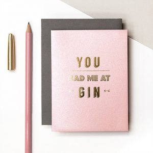 Gin Mini Metallic Card
