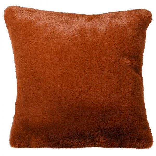 Burnt Amber Faux Fur Cushion