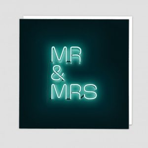 Greetings Card Mr & Mrs