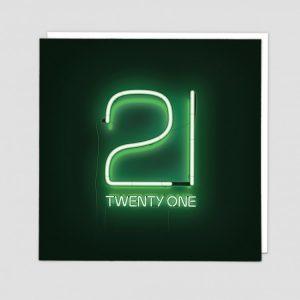 Greetings Card Twenty One