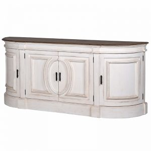 Nordic Rounded Painted Sideboard
