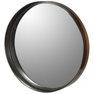 Round Deep Metal Frame Mirror