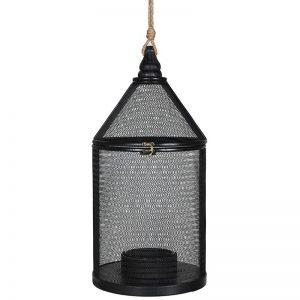 Black Woven Lantern