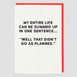 Greetings Card Planned