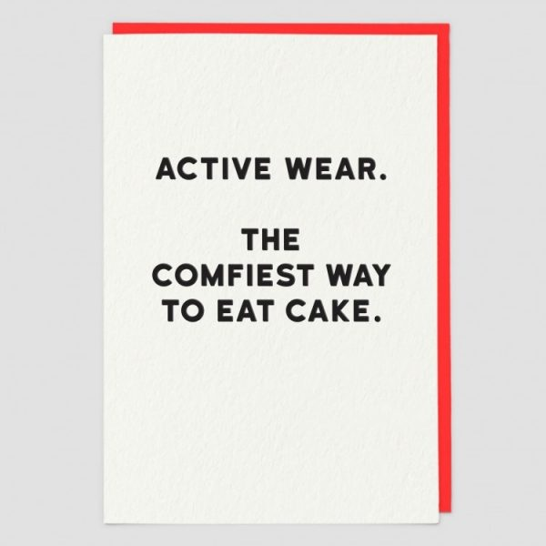 Greetings Card Active Wear