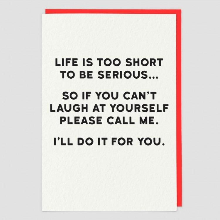 Greetings Card Serious