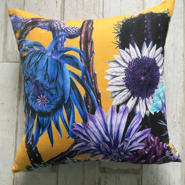 Big Cactus Mustard Large Cushion 60x60cm