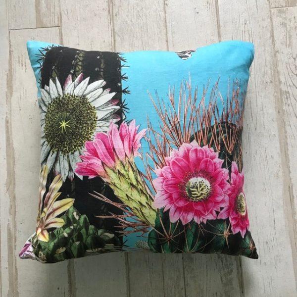Big Cactus Turq Large Cushion 60x60cm