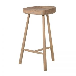 Weathered Oak 3 Leg Bar Stool