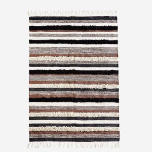 Stripe Rug With Fringes