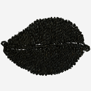 Black Seagrass Leaf Placemat