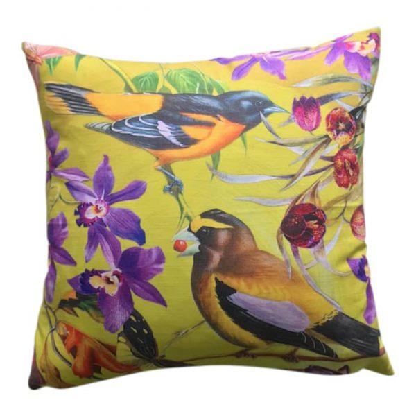 Autumn Birds Large Cushion 60x60cm
