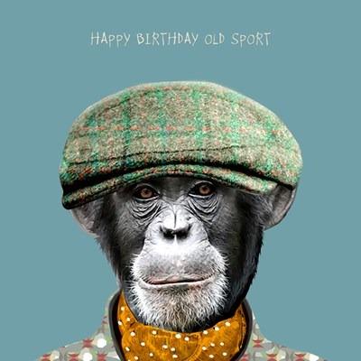 Happy Birthday Old Sport Greetings Card
