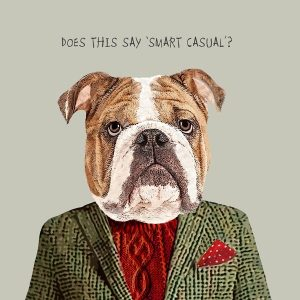 Smart Casual Greetings Card