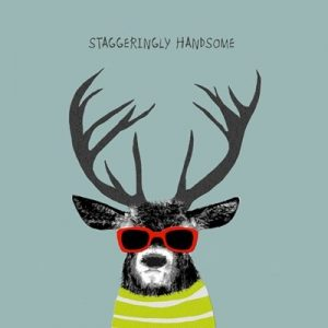 Staggeringly Handsome Greetings Card