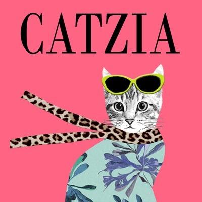 Catzia Greetings Card