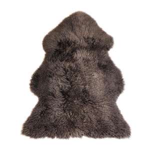 Curly Sheepskin Rug Chocolate Large