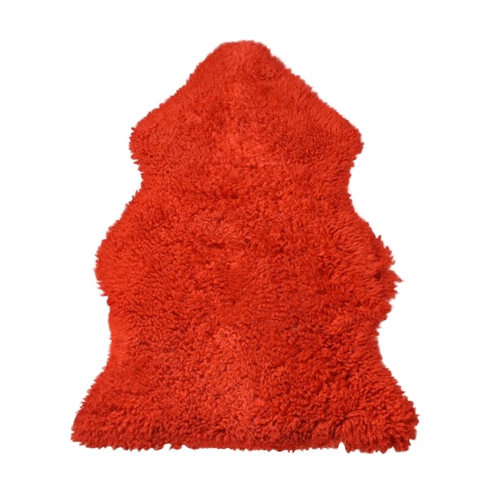 Curly Sheepskin Rug Rust Large