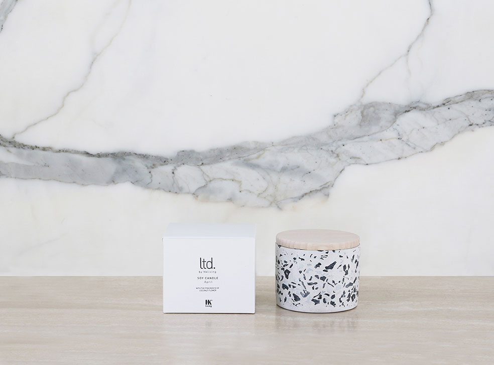 Terrazzo Soy Candle Coconut Flower