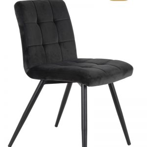 Grey Quilted Velvet Chair(Ex Display)