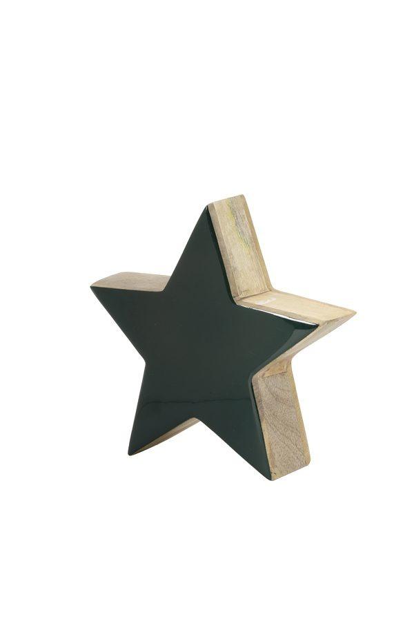 Dark Green Wood Star