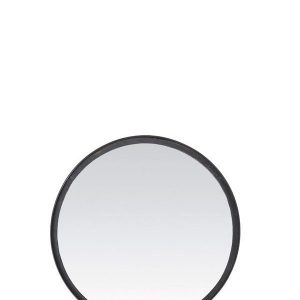Matt Black Round Mirror
