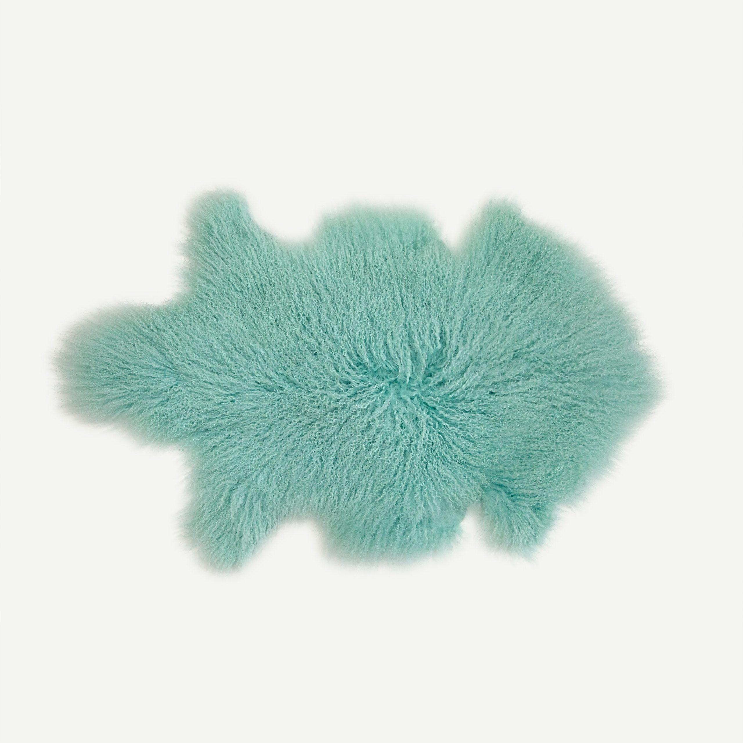 Mint Tibetan Sheepskin Rug