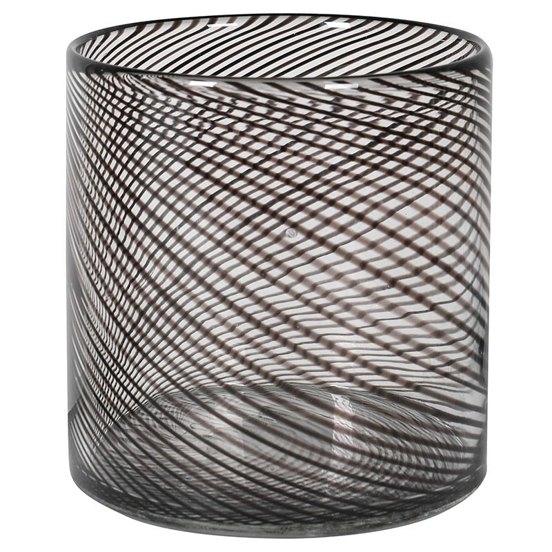 Black Swirl Candle Holder Small