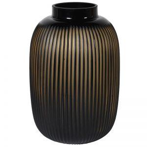 Amber Ribbed Vase