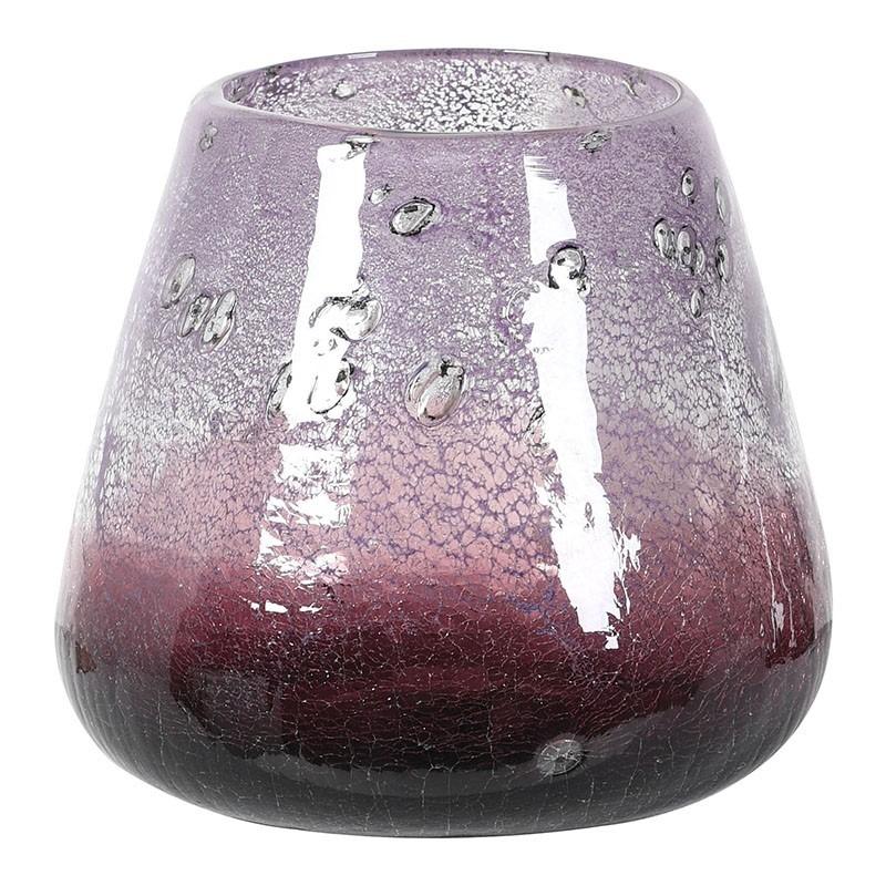 Ultraviolet Glass Candle Holder