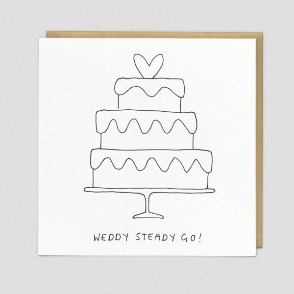 Greetings Card Weddy Steady