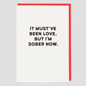 Greetings Card Sober