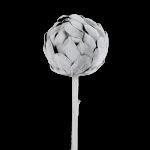 Grey Flocked Artichoke Decoration