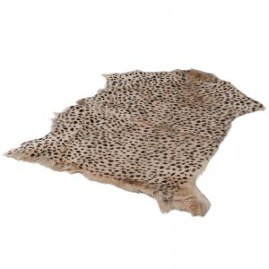 Leopard Print Goat Fur Rug