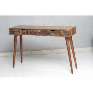 Copper Veneer Drawer Front Console Table