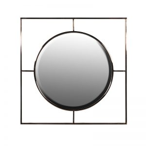 Circle in a Square Frame Mirror