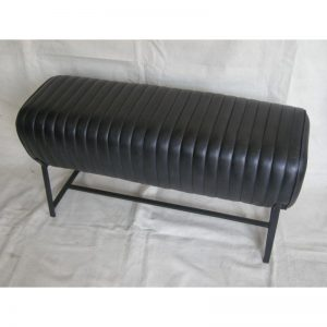 Black Padded Leather Pommel Bench