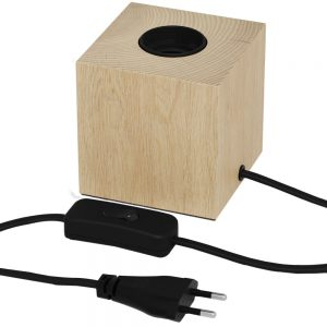Wood Block Base Table Lamp