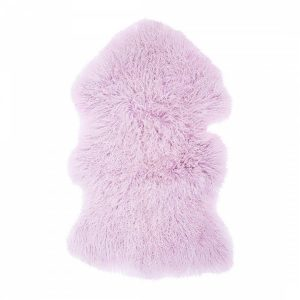 Powder Purple Tibetan Sheepskin Rug
