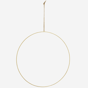 Hanging Brass Wire Ring Decoration