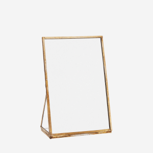 Antique Brass Standing Mirror