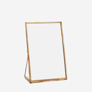 Antique Brass Standing Mirror