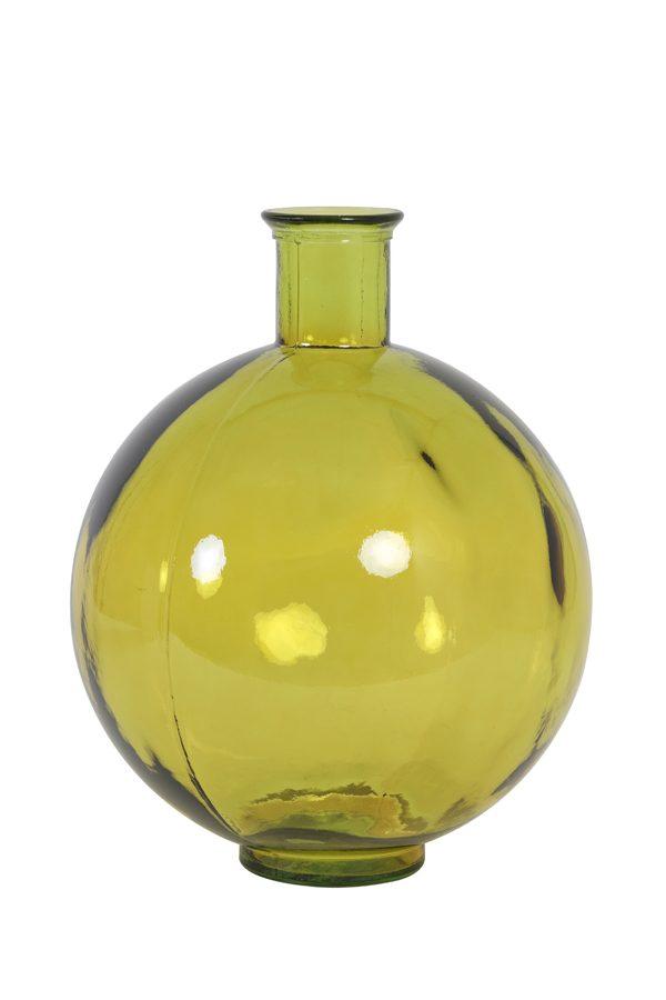 Ochre Glass Vase Table Lamp